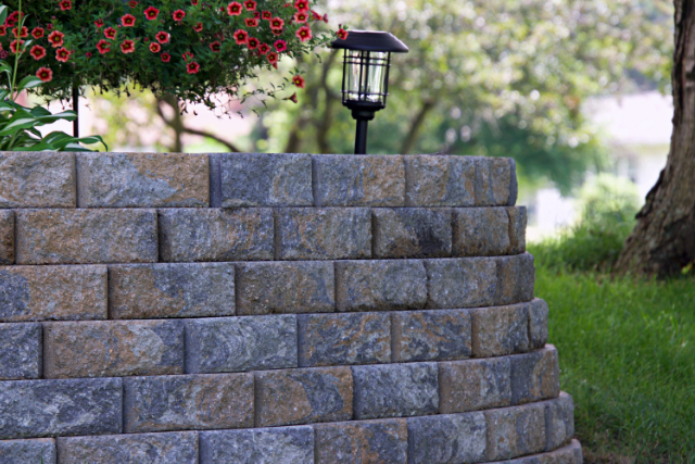 Retaining Wall Finished Project in Eugene